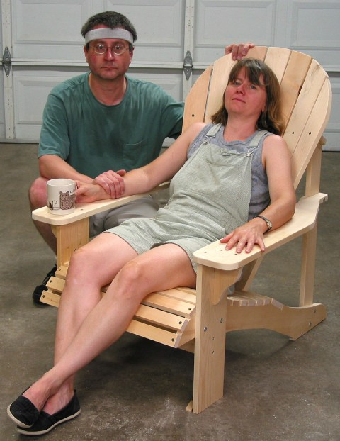 adirondack chair plans with curved back